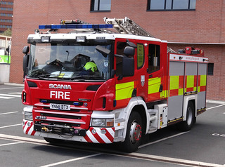 South Yorkshire Fire & Rescue Service Scania P310 Water Ladder