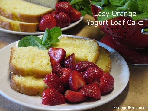 Easy orange yogurt loaf cake - FarmgirlFare.com