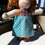 "Patchwork Cotton Dress for 15"" Dolls by Catarina Yarn Craft"