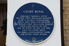 Photo of Madeira Hotel, Court Royal, and Guglielmo Marconi blue plaque