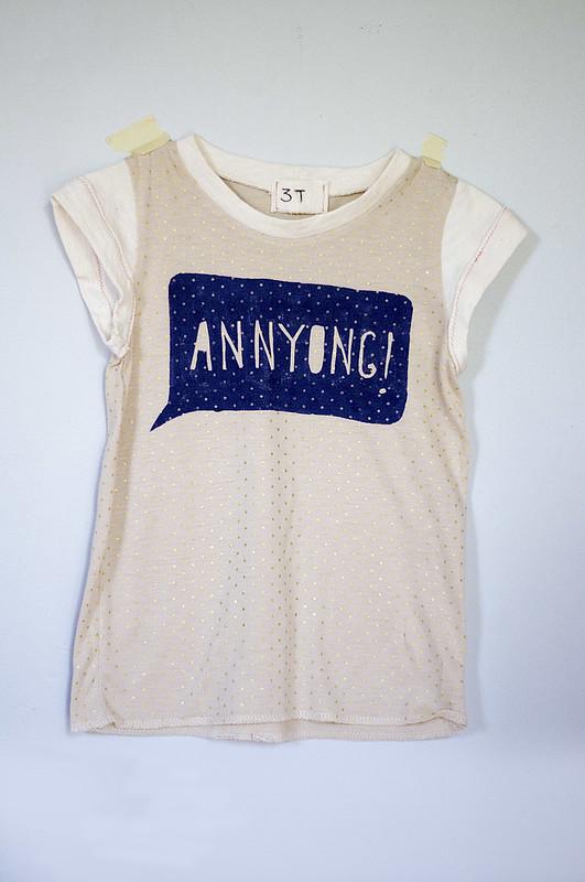 Annyong speech bubble shirt