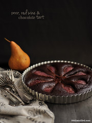 Spiced Red Wine, Chocolate & Pear Cake