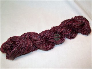 Red and copper handspun