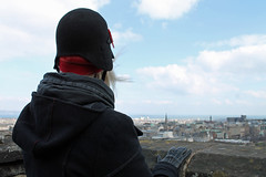 Fifi overlooking her domain - Edinburgh Castle