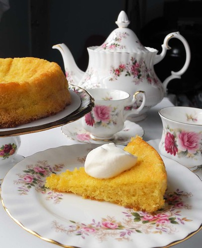 Orange Almond Cake (Gluten-Free) w/ Earl Grey Tea