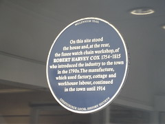 Photo of Robert Harvey Cox blue plaque