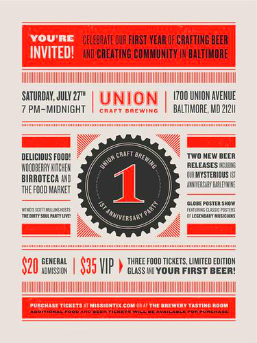 Union Craft's 1st anniversary