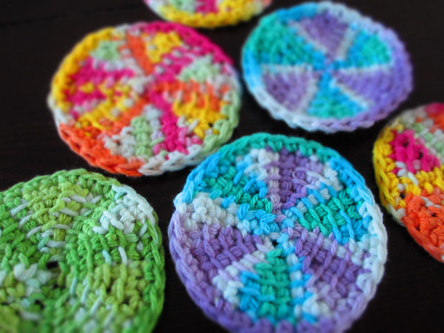 Tunisian Crochet Coasters