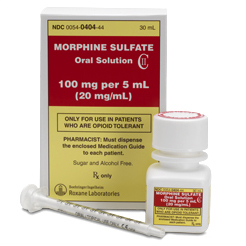 morphine oral solution 20mg/ml Roxane