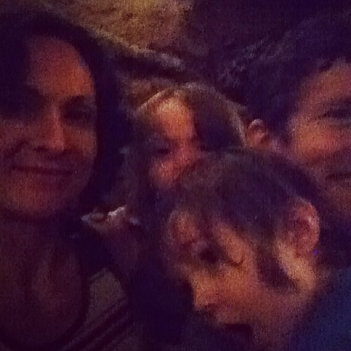 Family cave selfie