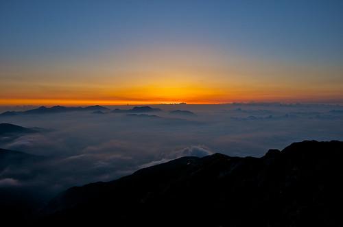 sunrise japannorthalps mtkaramatsu