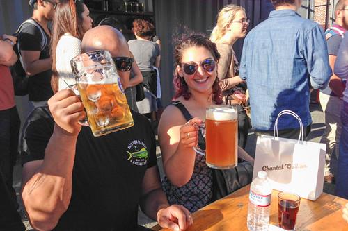 Biergarden at the end of San Francisco SweetsCrawl