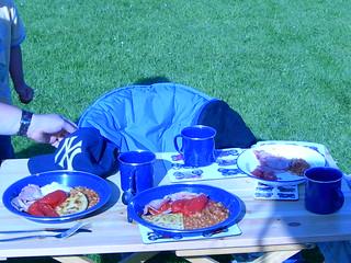 1st day Breakfast at Sundrum Castle