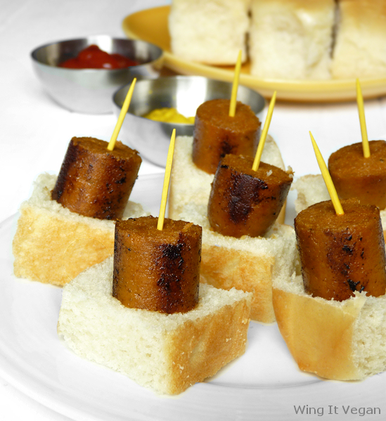 Hot Dog Bites (Field Roast Frankfurters)