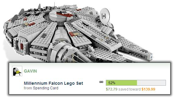 Millennium Falcon Lego Set Savings Goal