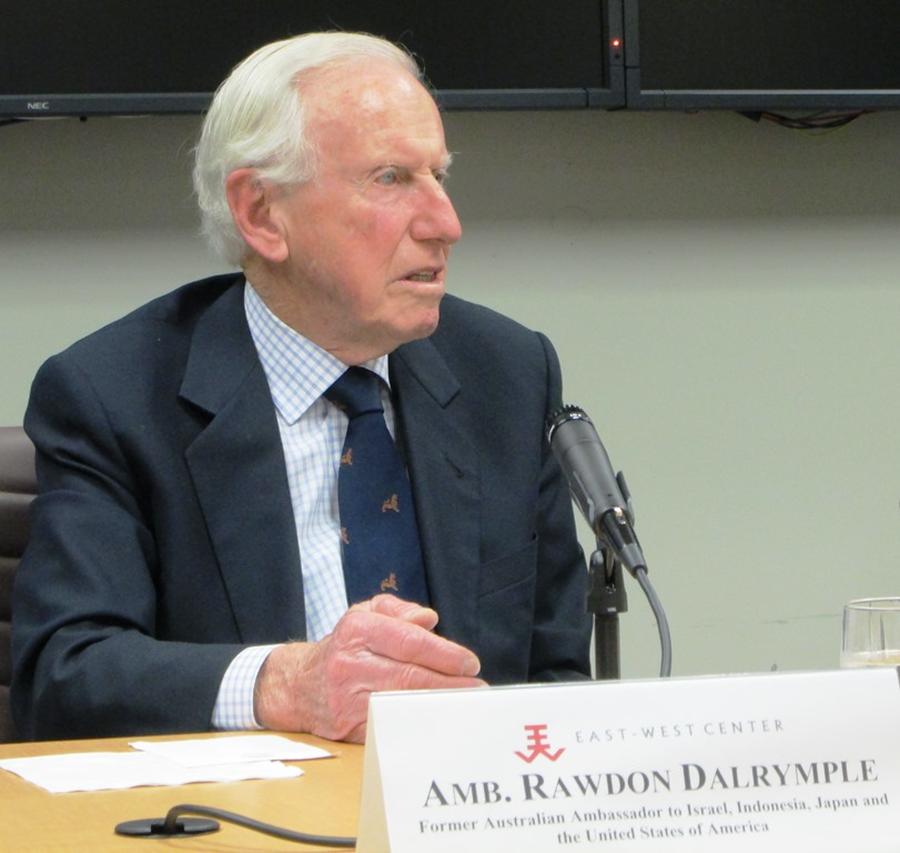 Australia's former ambassador to Israel, Indonesia, Japan, and the United States, Rawdon Dalrymple, drew on his extensive experience to explain the possible impacts of the recent national elections, and the role of regional relations on Australia's domestic and foreign policy in his talk at the East-West Center in Washington.