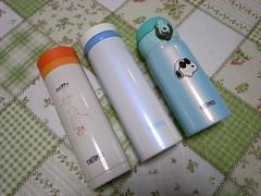 THERMOS 真空断熱ケータイマグ 手持ちの3本を並べて
