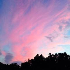 10月3日の夕空