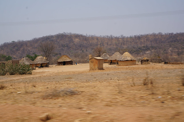 Typical village in zim