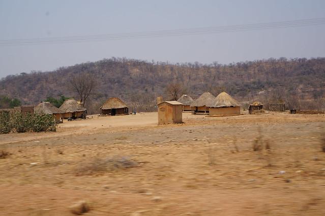 Typical village in zim