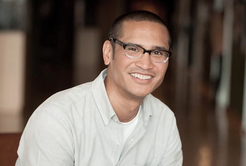 Ricky Nierva poses for his headshot in the atrium of Pixar Animation Studios on February 7, 2013 in Emeryville, CA. (Photo by Jessica Linfield/Pixar)
