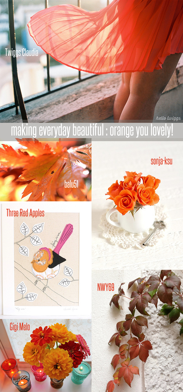 making everyday beautiful : orange you lovely! | Emma Lamb