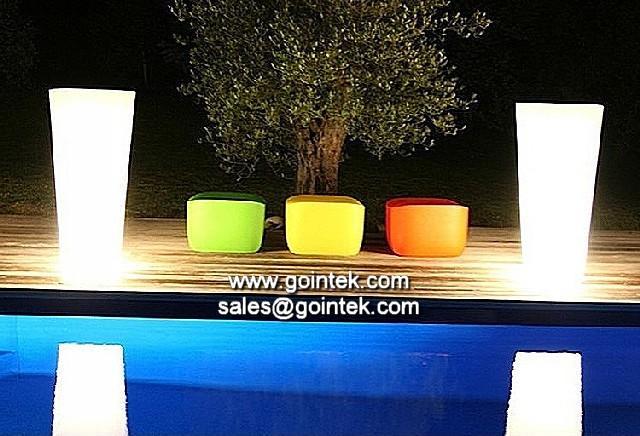 Jard n al aire libre impermeable de iluminaci n led tiesto - Iluminacion de jardin ...
