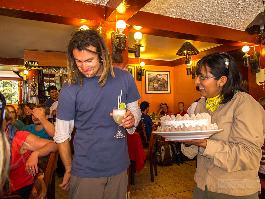 In Peru, 'happy birthday' means cake in the face time.
