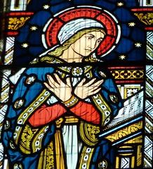 Ault Hacknall, Derbyshire - St John the Baptist's Church - Stained Glass Windows.