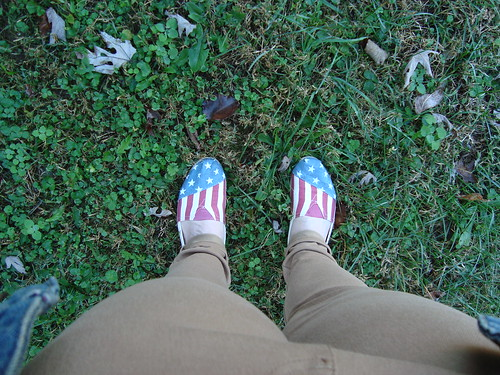 Freedom: Flag shoes