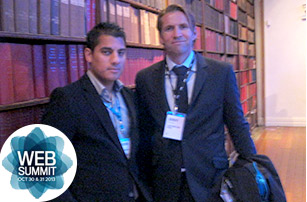 VE MD Shaunvir Mahil with Jimmy Maymann, CEO of The Huffington Post, world's biggest online newspaper