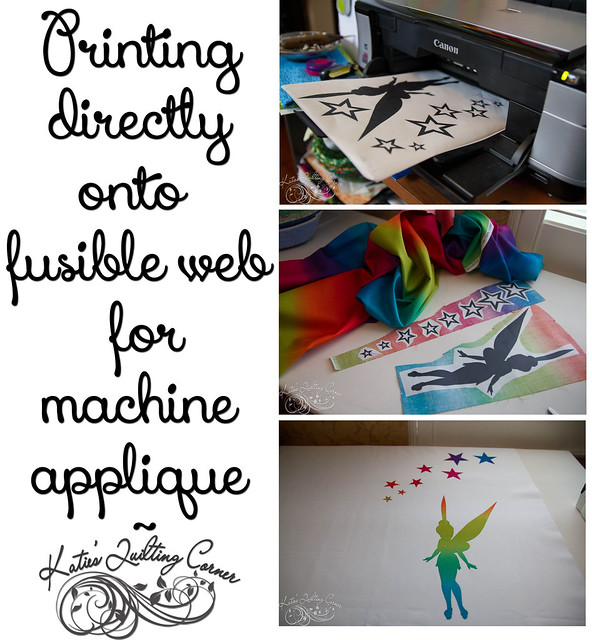 Tutorial - printing onto fusible web for machine applique