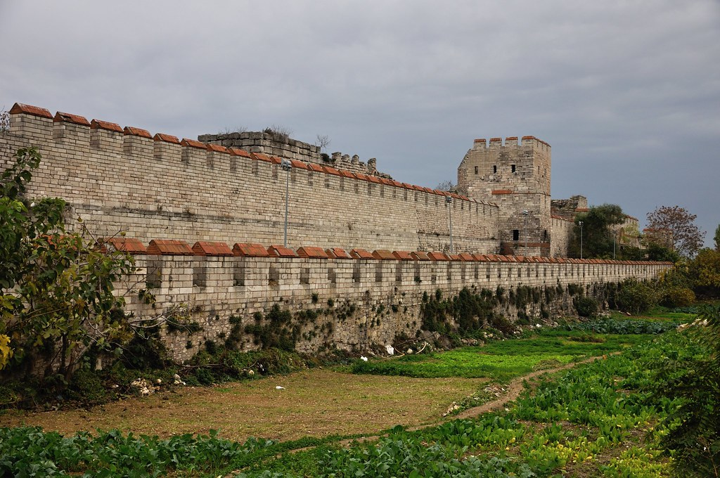Theodosian Walls in Istanbul's Golden Horn area