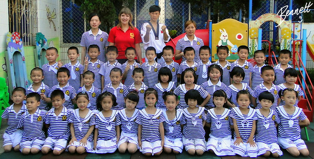 Kindergarten class in China