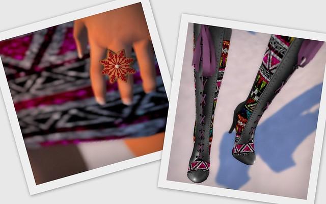 Free mesh boots gacha xmas rings