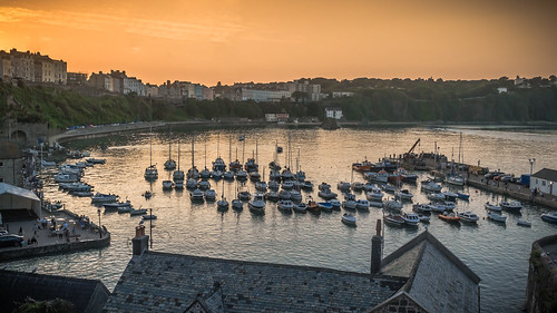 Tenby Harbour Sunset