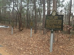 Historical Markers at Paper Mill Road Lot