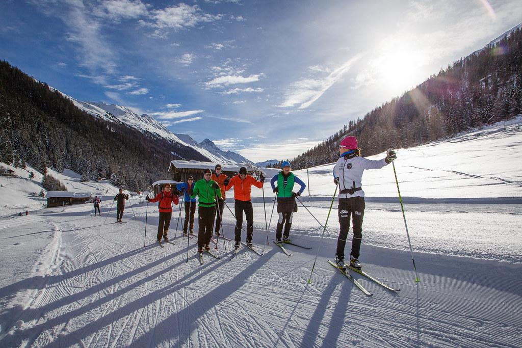 Bossard/KVT Langlauftag mit Seraina Boner in Davos (3.1.2014)