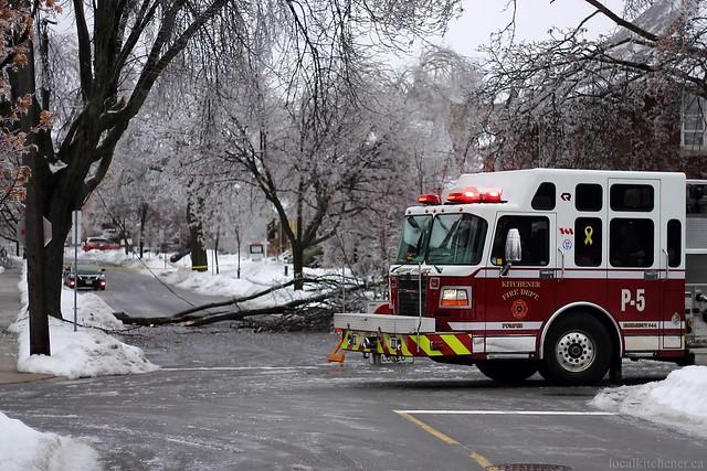 ice breaking stuff on our street