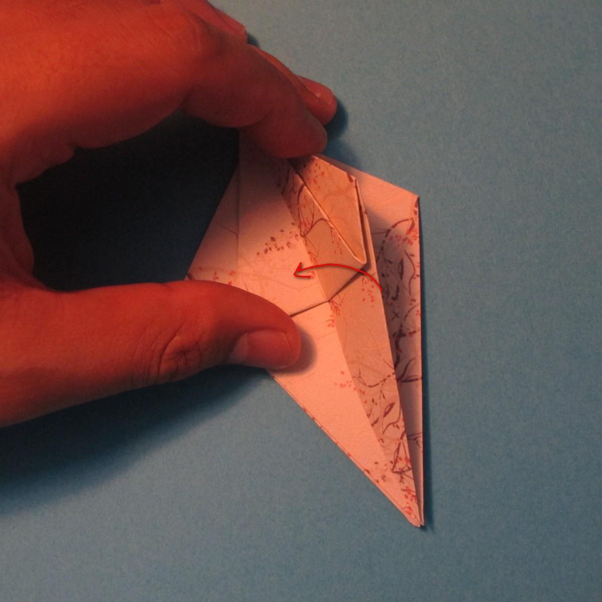 วิธีการพับกระดาษเป็นดาวสี่แฉก 016