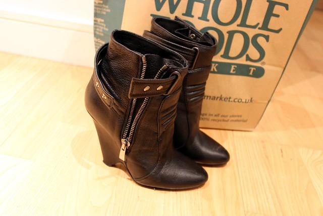 kurt geiger black leather boots