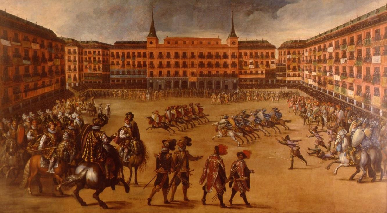 4. El juego de las Cañas. Obra de Juan de la Corte. 1590-1662