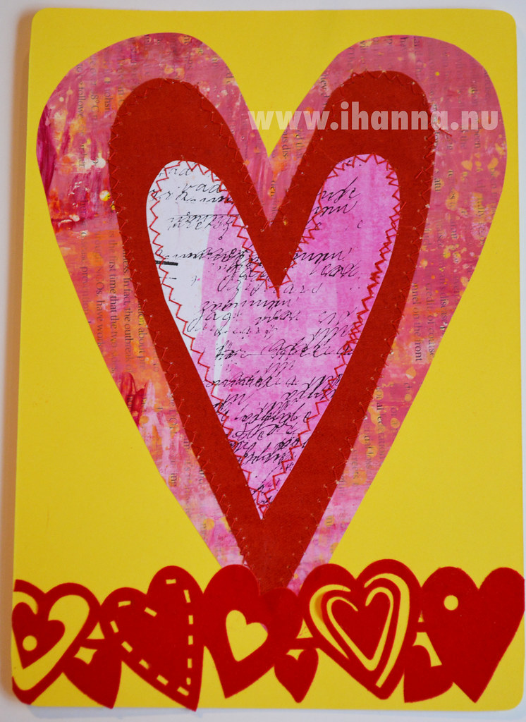 Yellow Valentine Postcard