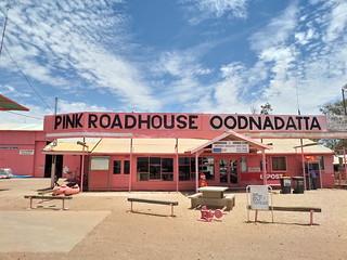 Pink Roadhouse in Oodnadatta