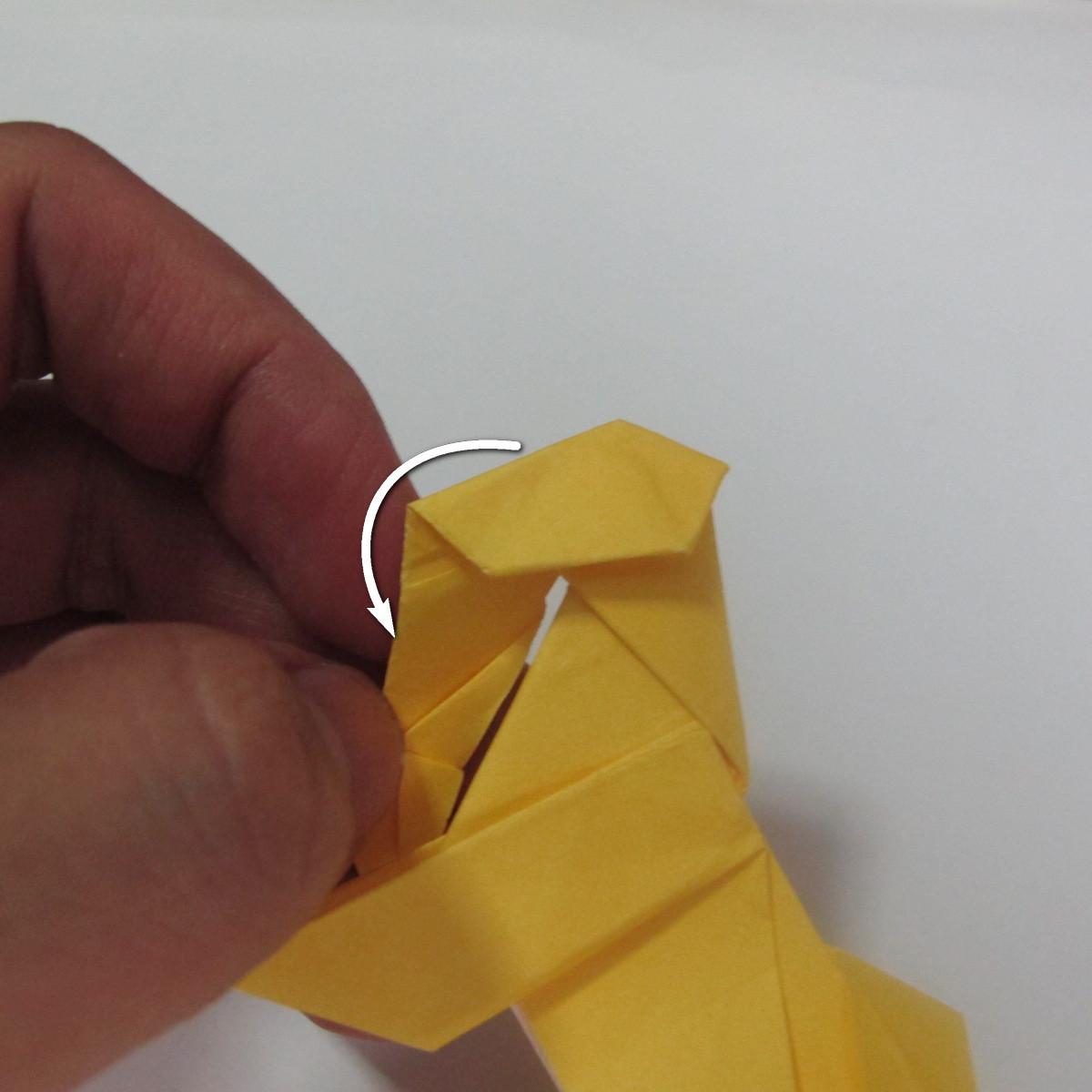 สอนวิธีพับกระดาษเป็นรูปลูกสุนัขยืนสองขา แบบของพอล ฟราสโก้ (Down Boy Dog Origami) 097