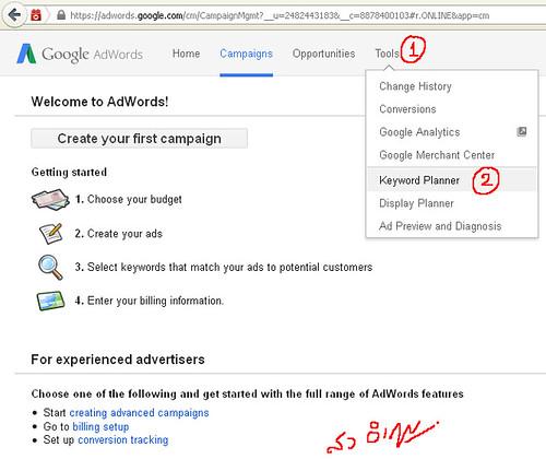 วิธีการตรวจสอบ keyword จำนวนครั้งการค้นหาที่ Google