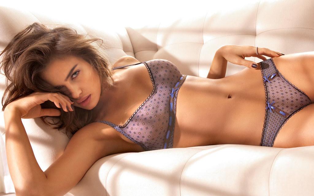 Hot Irina Shayk poses for Beach Bunny