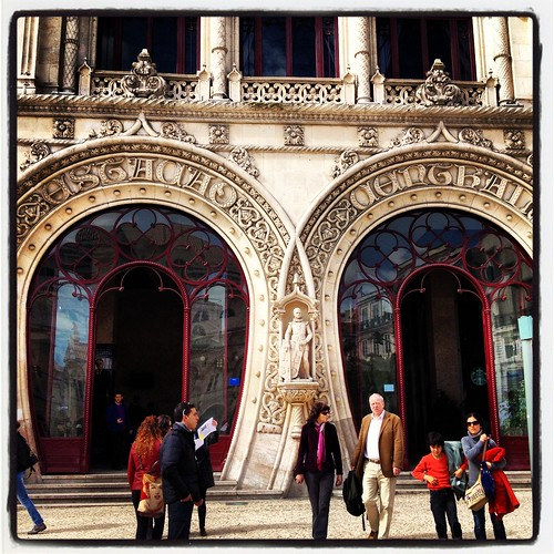 Cool entrance to the train station, Sintra, Portugal