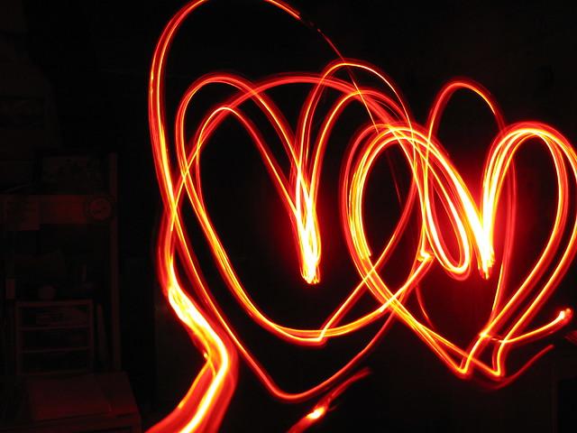 Long Exposure Hearts
