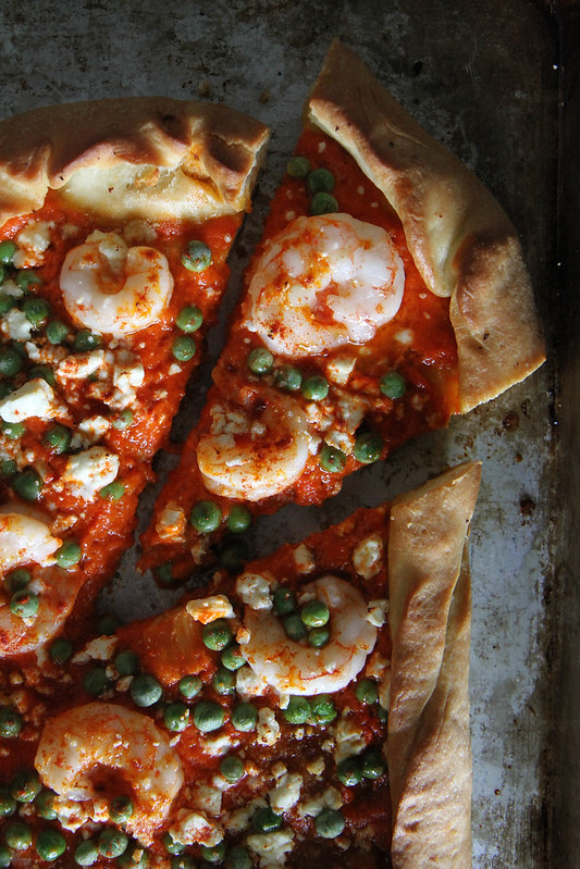 Spanish Shrimp Pizza
